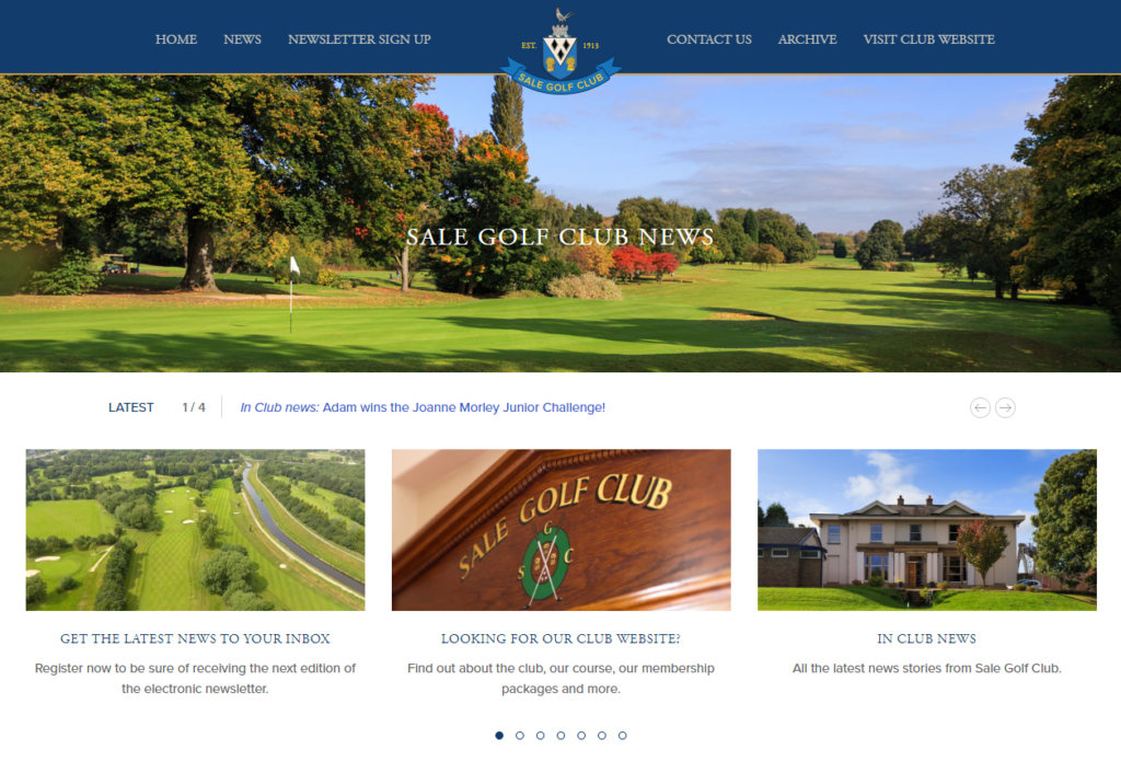 Sale Golf Club News website