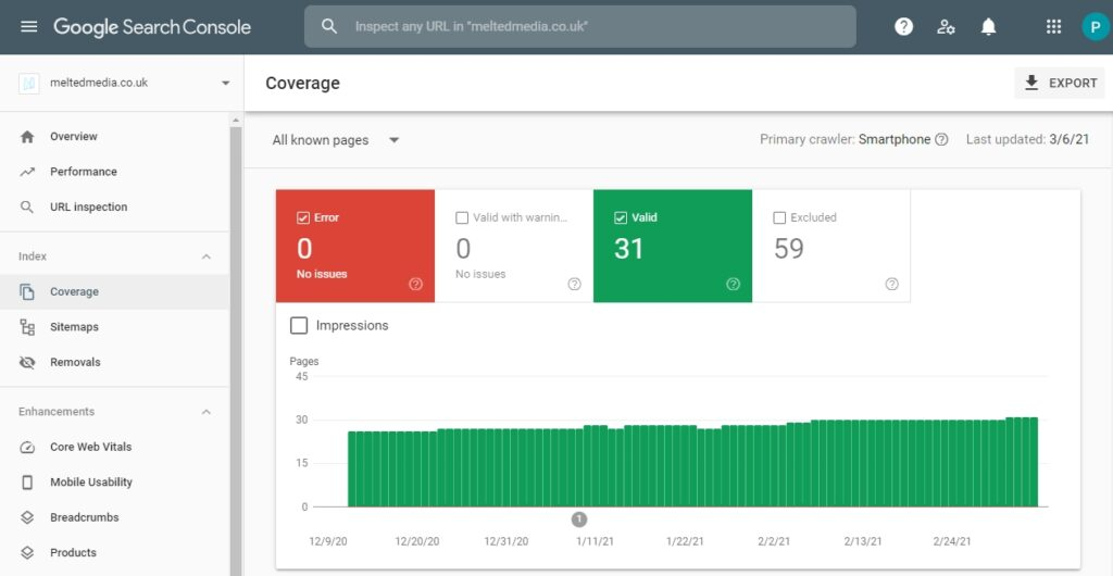 Monitor your website health with Google Search Console