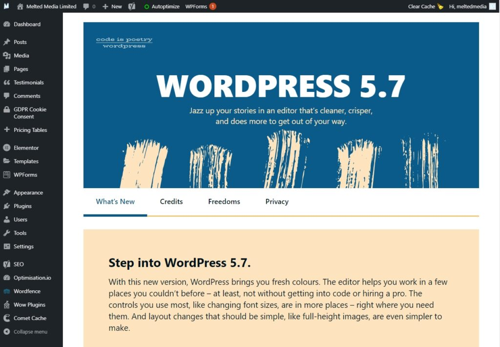 What's new in WordPress 5.7