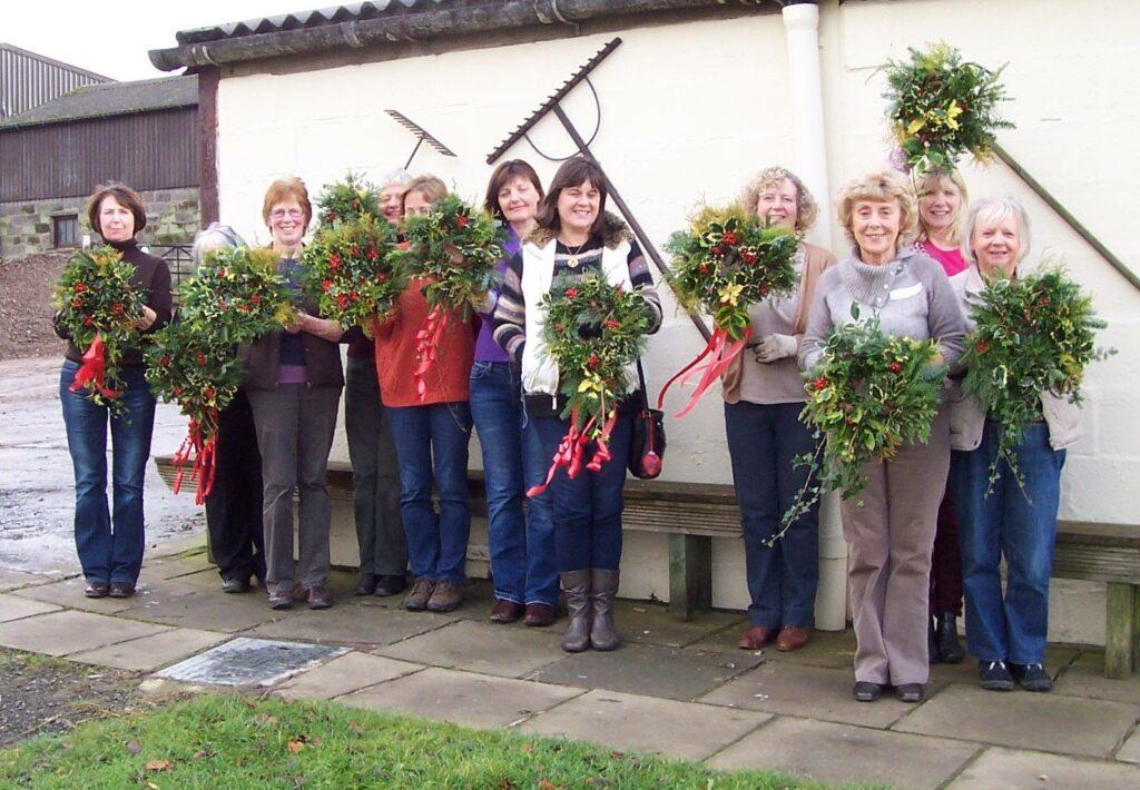 Wreath making workshops at Blaze Farm