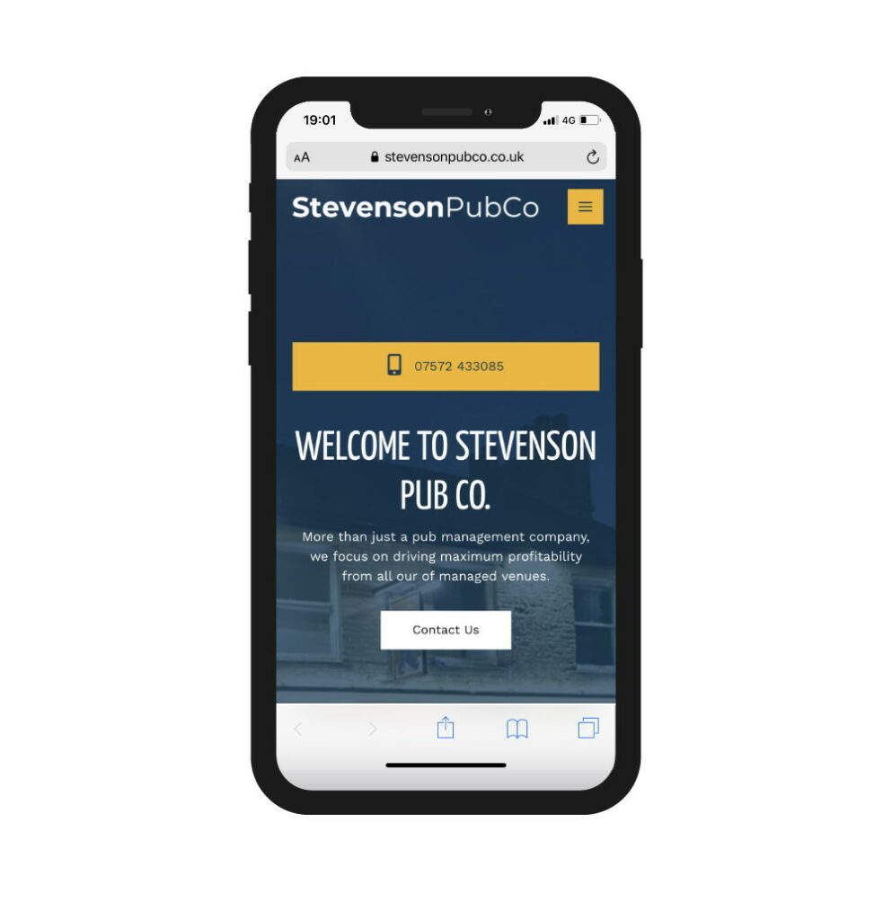 Stevenson Pub Co, mobile brochure site